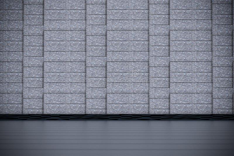 De naakte concrete ruimte van Grunge royalty-vrije illustratie