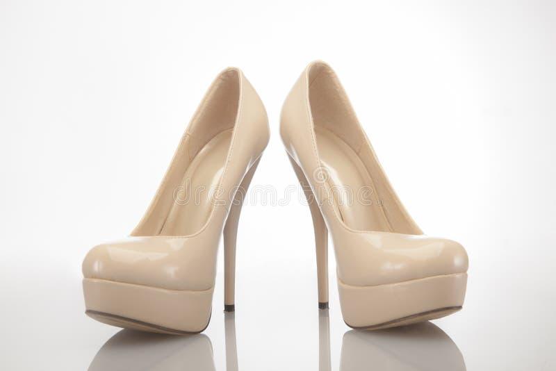 De naakte hoge schoenen van hielvrouwen stock foto's