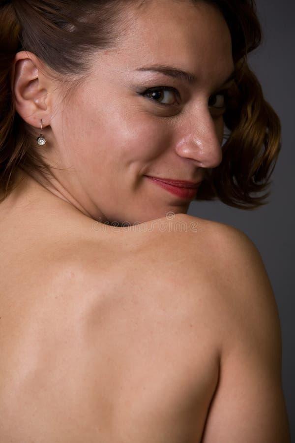 De naakte rug van Womans royalty-vrije stock afbeelding
