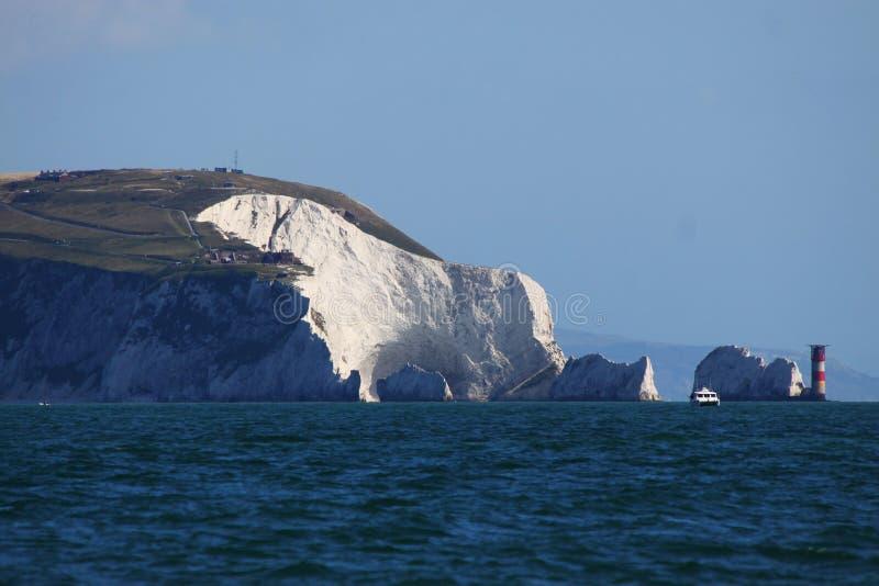 De Naalden, het Eiland Wight, het UK royalty-vrije stock afbeeldingen
