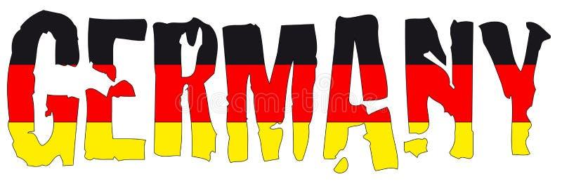 De naam en de vlag van Duitsland stock illustratie