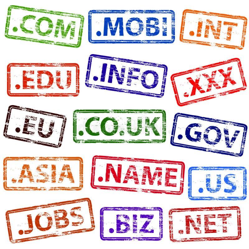 De naam rubberzegels van het domein royalty-vrije illustratie