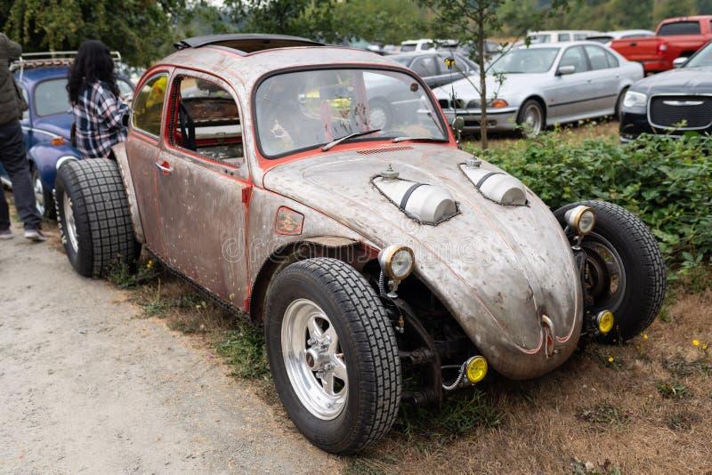 De naar maat gemaakte auto van Volkswagen bij het tentoongestelde voorwerp stock fotografie