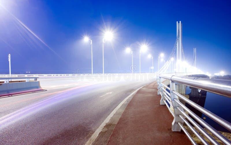 De Nacht van de brug stock foto's