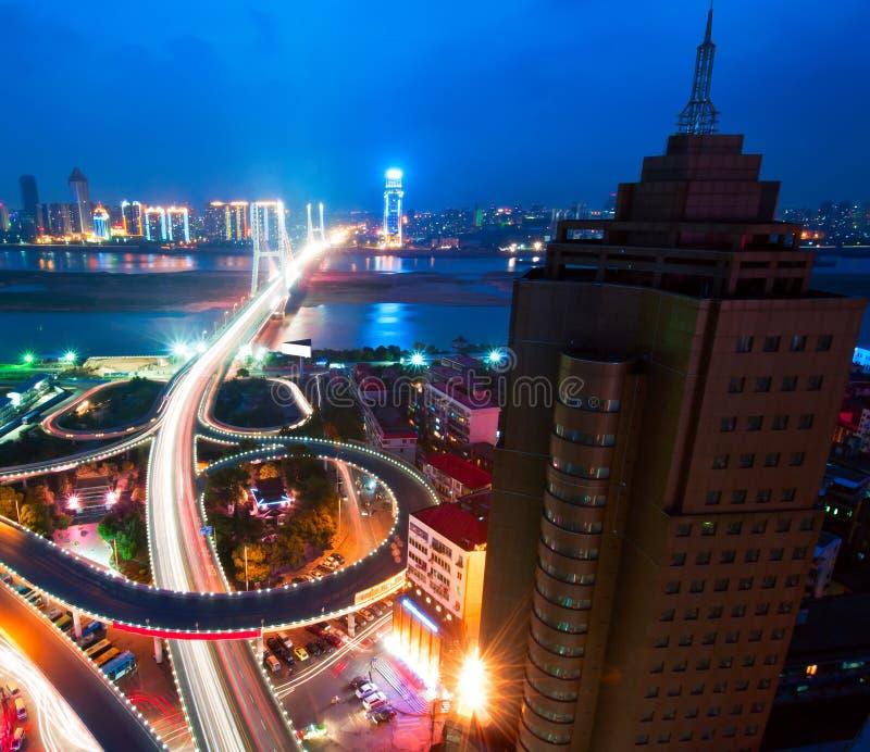 De Nacht van de brug stock fotografie