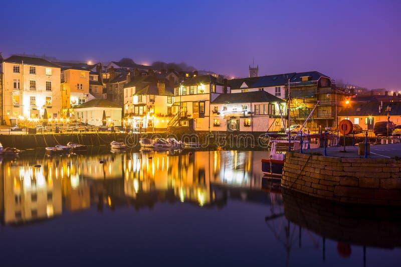 De Nacht van de Falmouthhaven stock fotografie