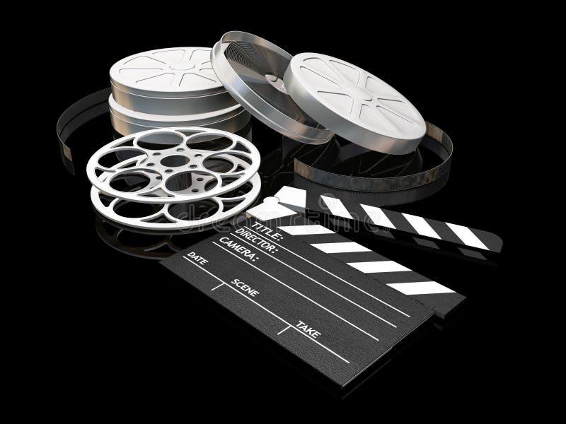 De nacht van de film royalty-vrije illustratie
