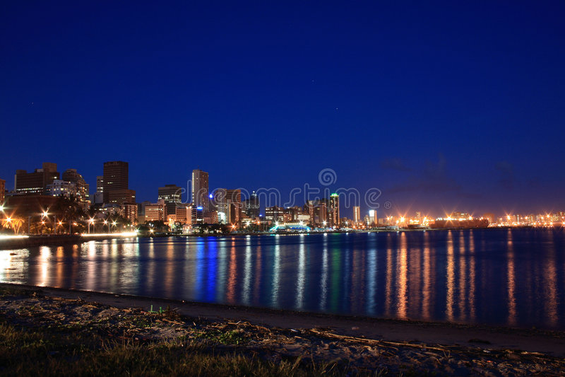 De nacht van de haven royalty-vrije stock foto