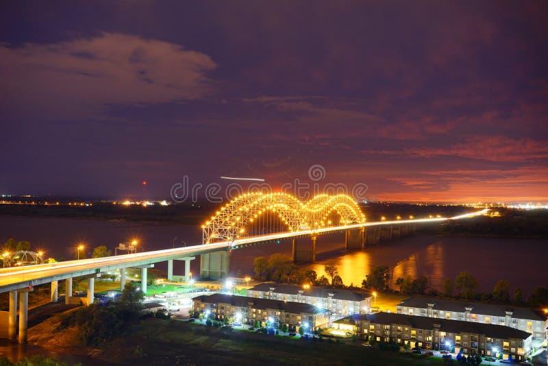 De nacht van de Mississippi stock foto
