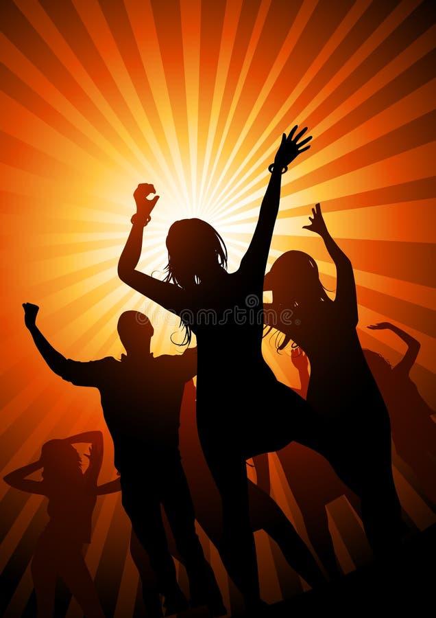 Download De Nacht Van De Partij Van De Zomer Vector Illustratie - Illustratie bestaande uit blauw, meisjes: 10780435