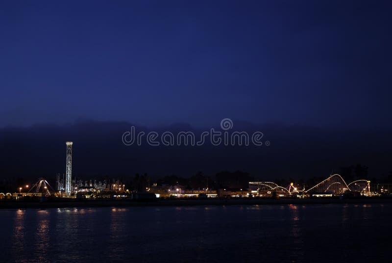 De Nacht van de Promenade van Cruz van de kerstman royalty-vrije stock afbeelding
