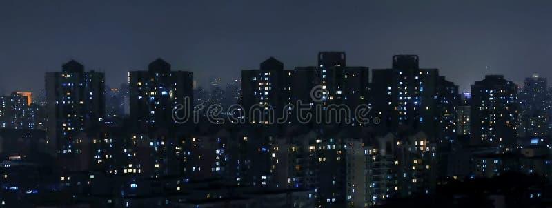 De nacht van de stad royalty-vrije stock foto