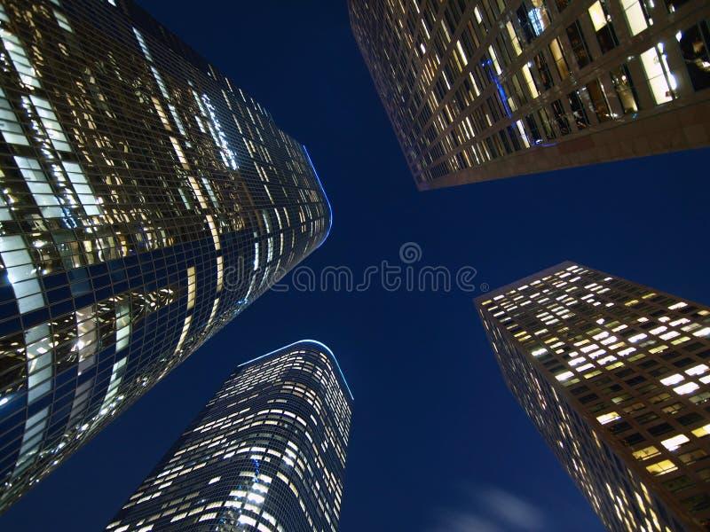 De Nacht van de Torens van Los Angeles stock fotografie