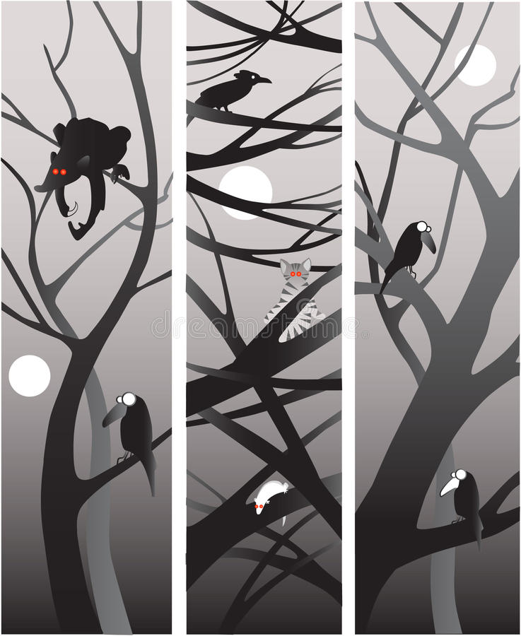 De nacht van de wildernis royalty-vrije stock afbeelding