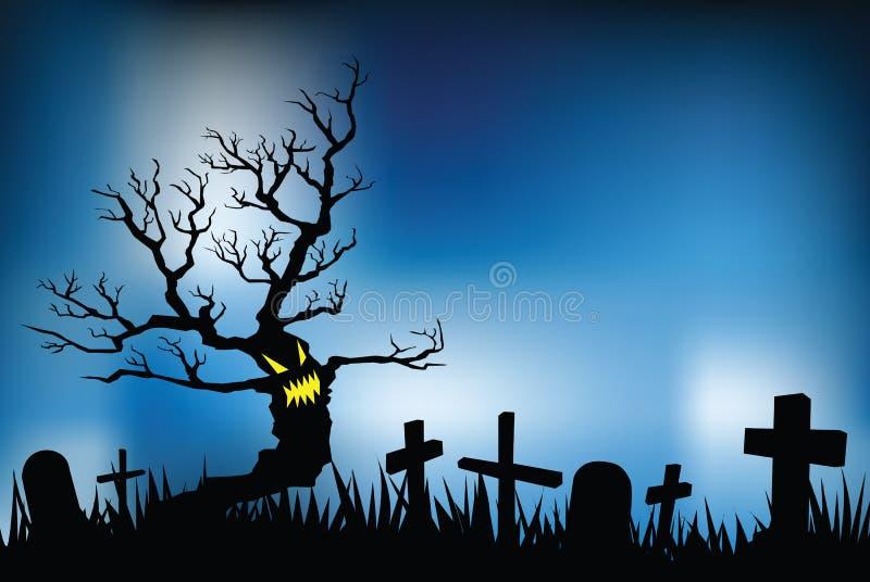 De nacht van Halloween stock illustratie