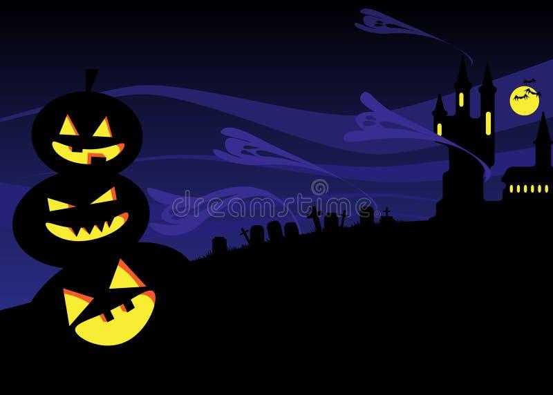 De nacht van Halloween royalty-vrije illustratie