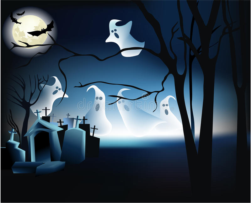 De nacht van Halloween stock illustratie