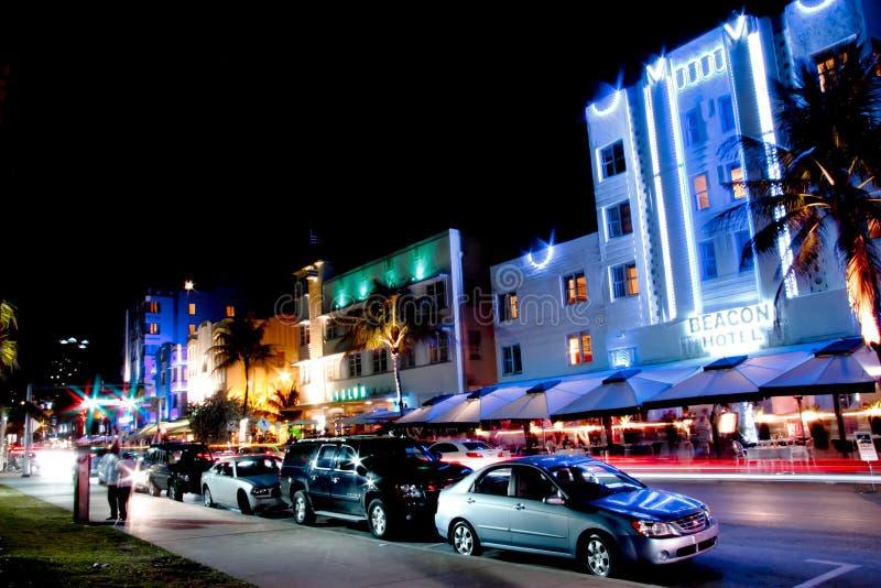 De nacht van het Strand van het Zuiden van Miami