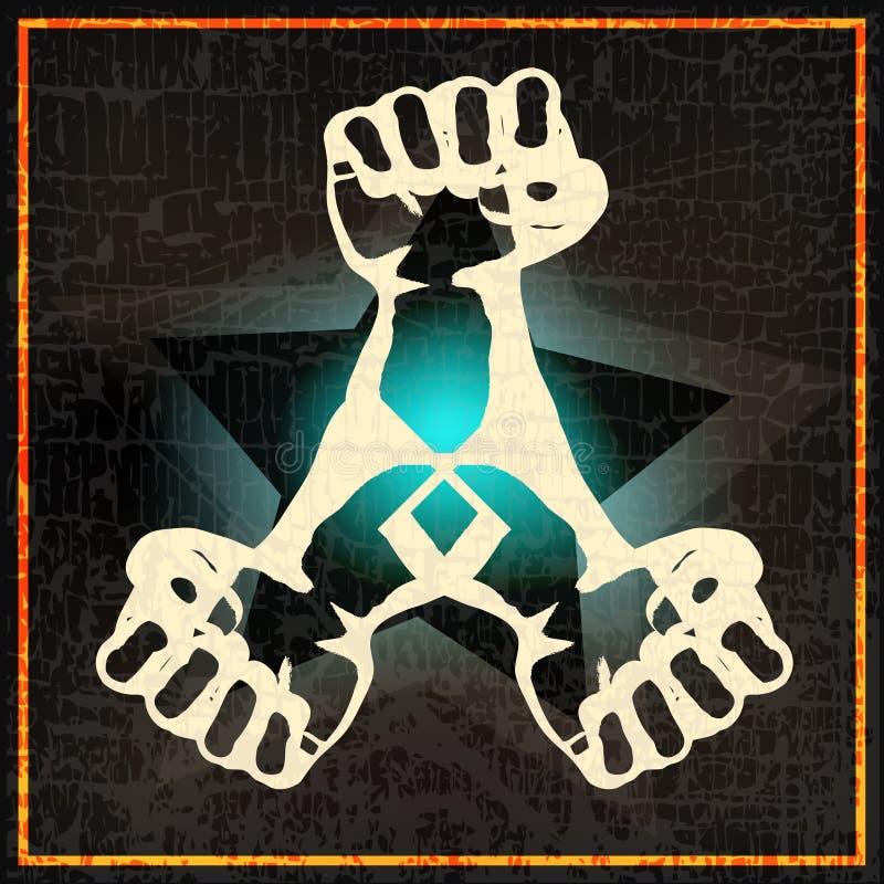 De Nacht van Indie of de vastgestelde Affiche van DJ royalty-vrije illustratie
