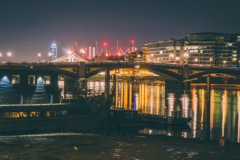 De nacht van Londen royalty-vrije stock foto