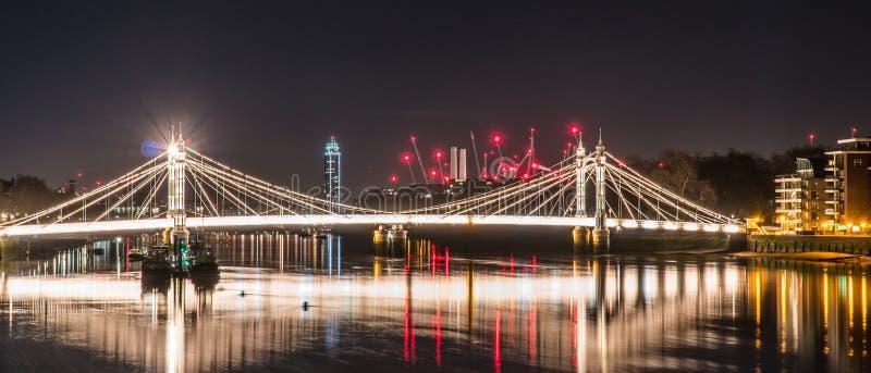 De nacht van Londen royalty-vrije stock afbeeldingen