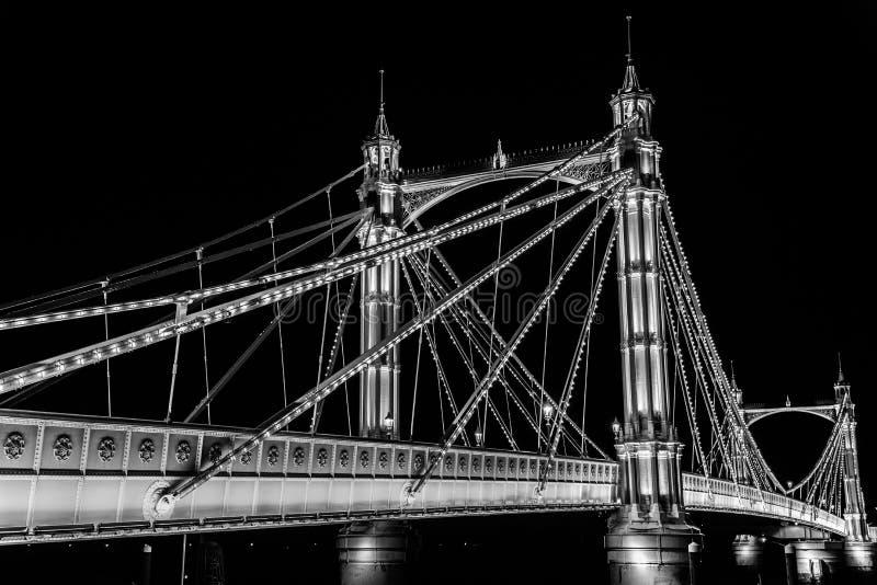 De nacht van Londen stock foto's