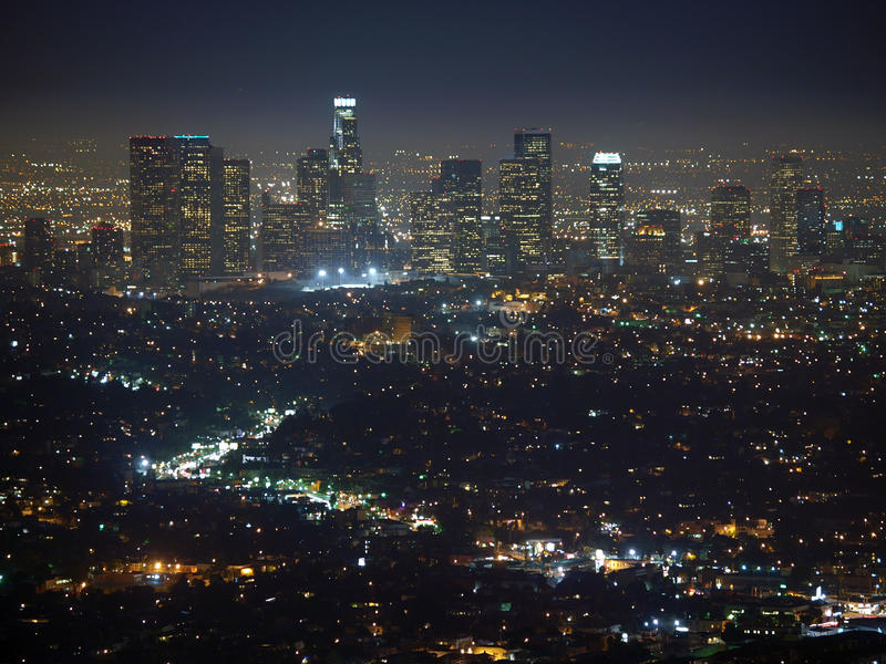 De Nacht van Los Angeles royalty-vrije stock foto