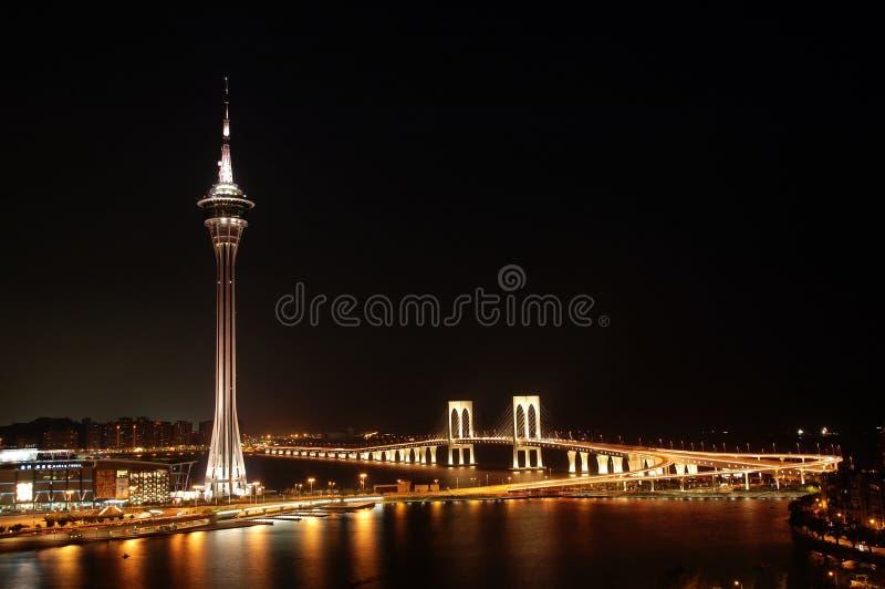 De nacht van Macao royalty-vrije stock afbeeldingen