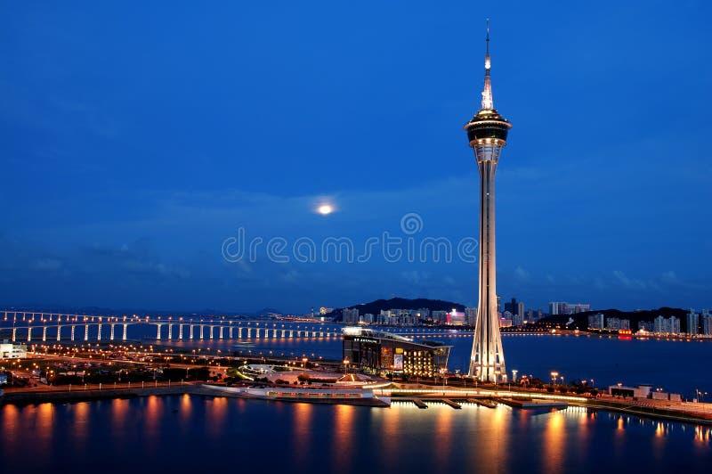 De nacht van Macao stock foto