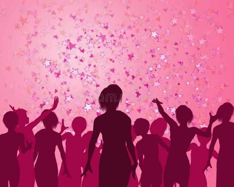 De Nacht van meisjes uit stock illustratie