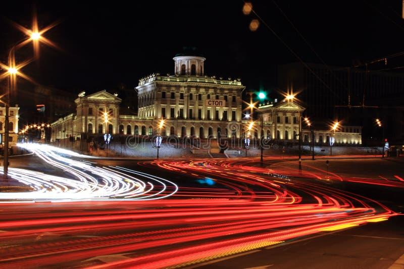 De nacht van Moskou royalty-vrije stock afbeeldingen