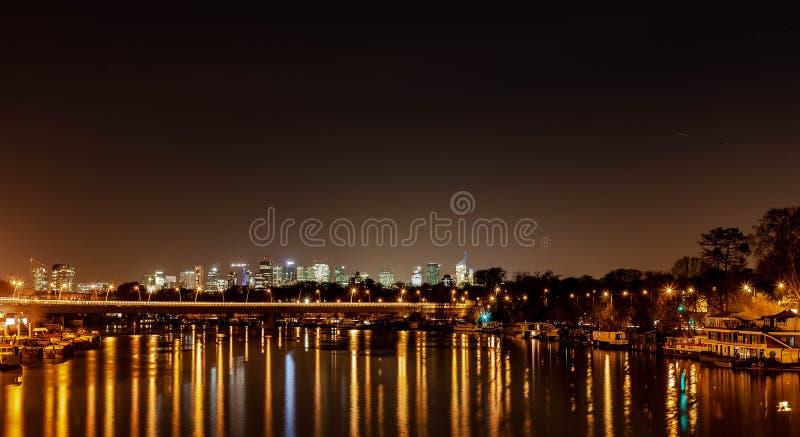 De nacht van Parijs stock fotografie