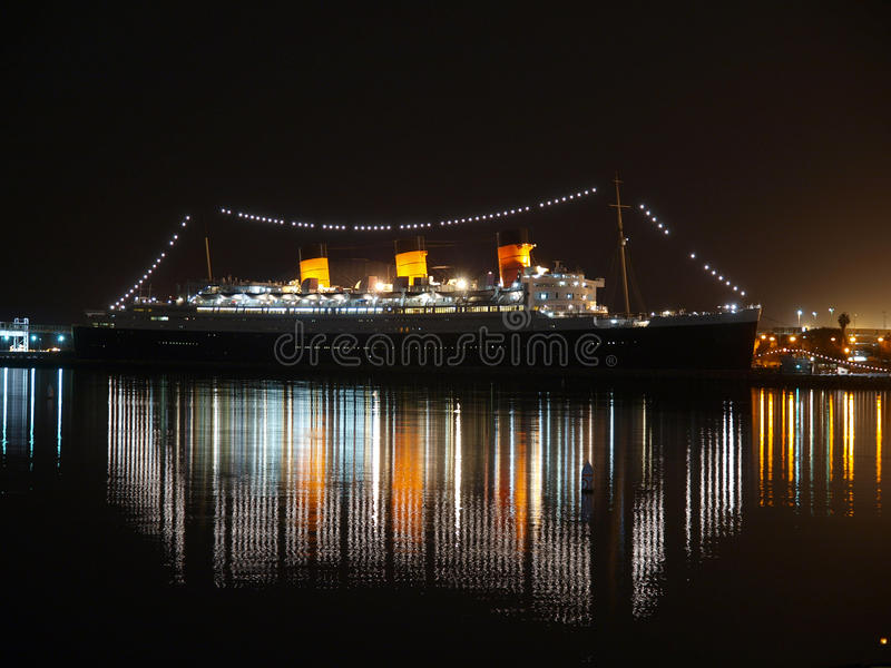 De Nacht van Queen Mary royalty-vrije stock afbeelding