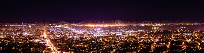 De Nacht van San Francisco royalty-vrije stock afbeeldingen