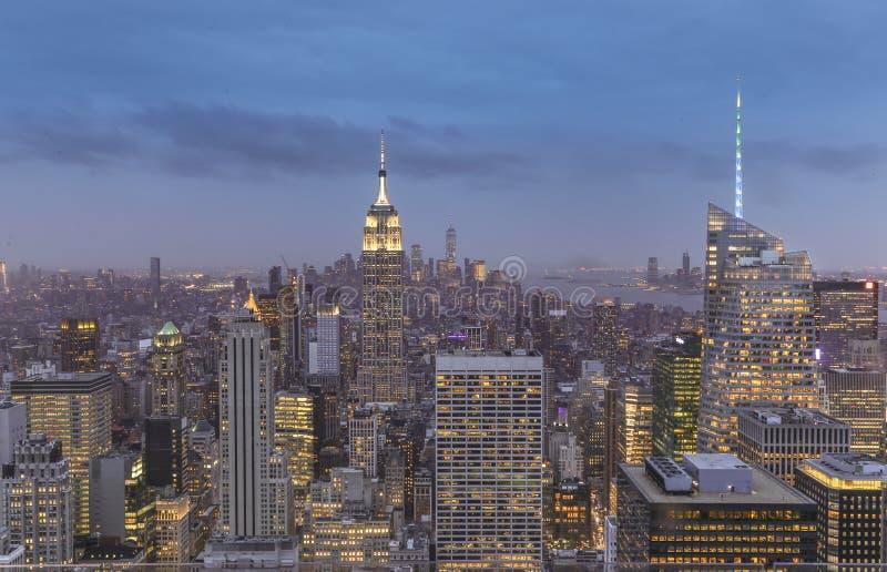 De Nacht van de Stad van New York royalty-vrije stock foto