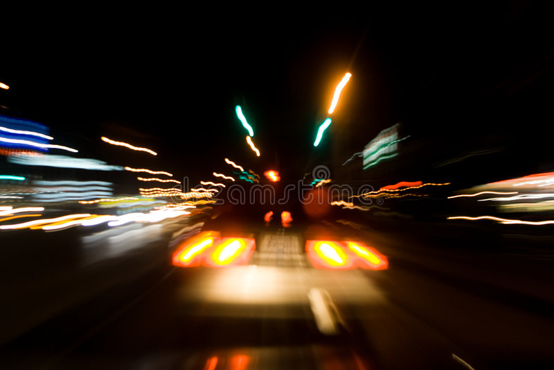 De Nacht van straten stock foto's