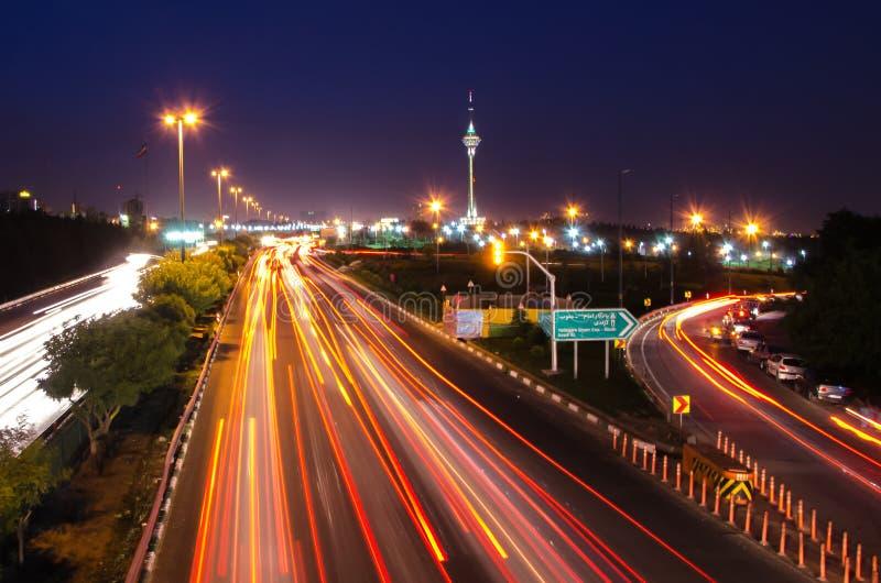 De Nacht van Teheran stock fotografie