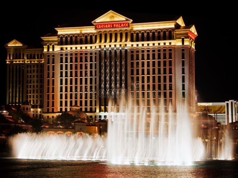 De nacht van Vegas stock foto