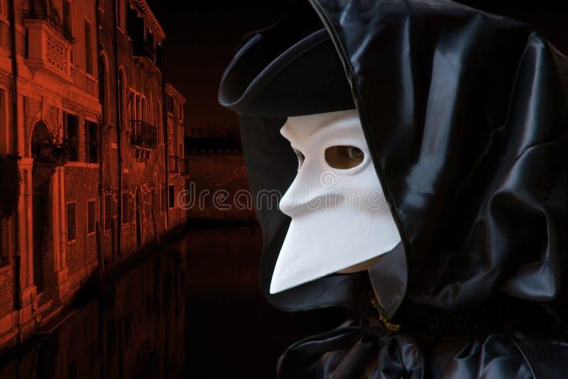 De nacht van Venecian stock foto's