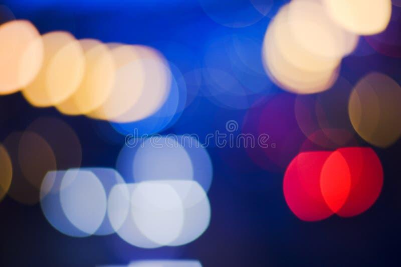 De nacht van verkeerslichten royalty-vrije stock afbeeldingen