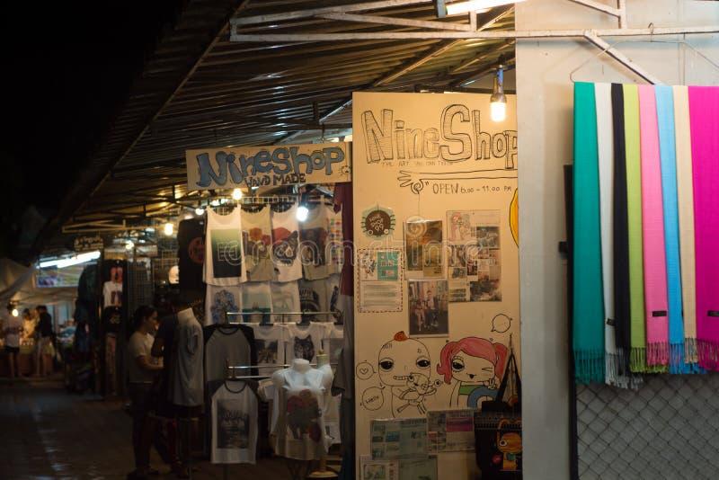 De nachtbazaar van Chiangrai stock afbeeldingen