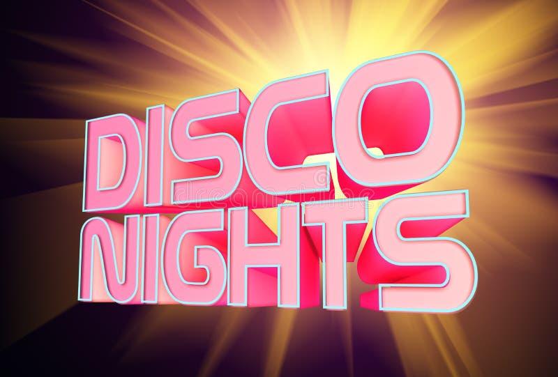 De Nachten van de disco royalty-vrije illustratie
