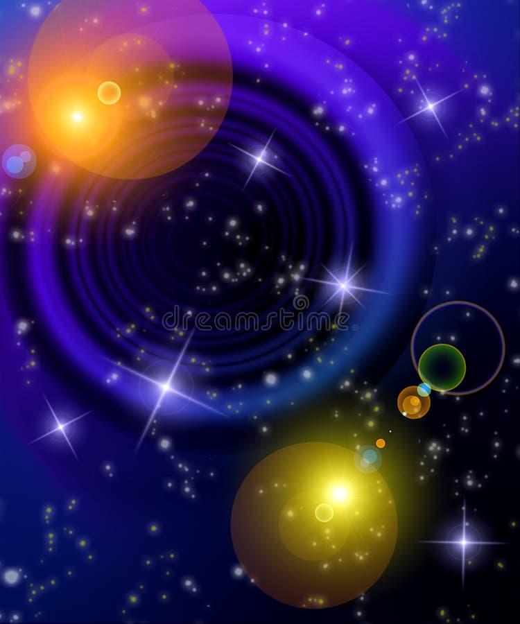 De nachthemel van de fantasie stock illustratie