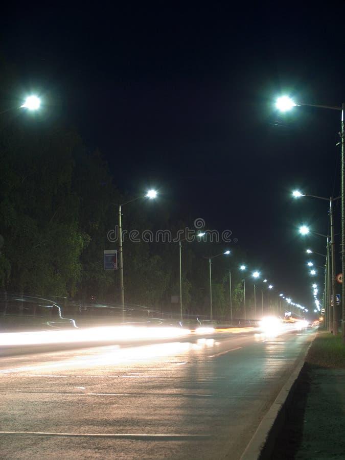 De nachtmening van Morskoi-weg stock fotografie