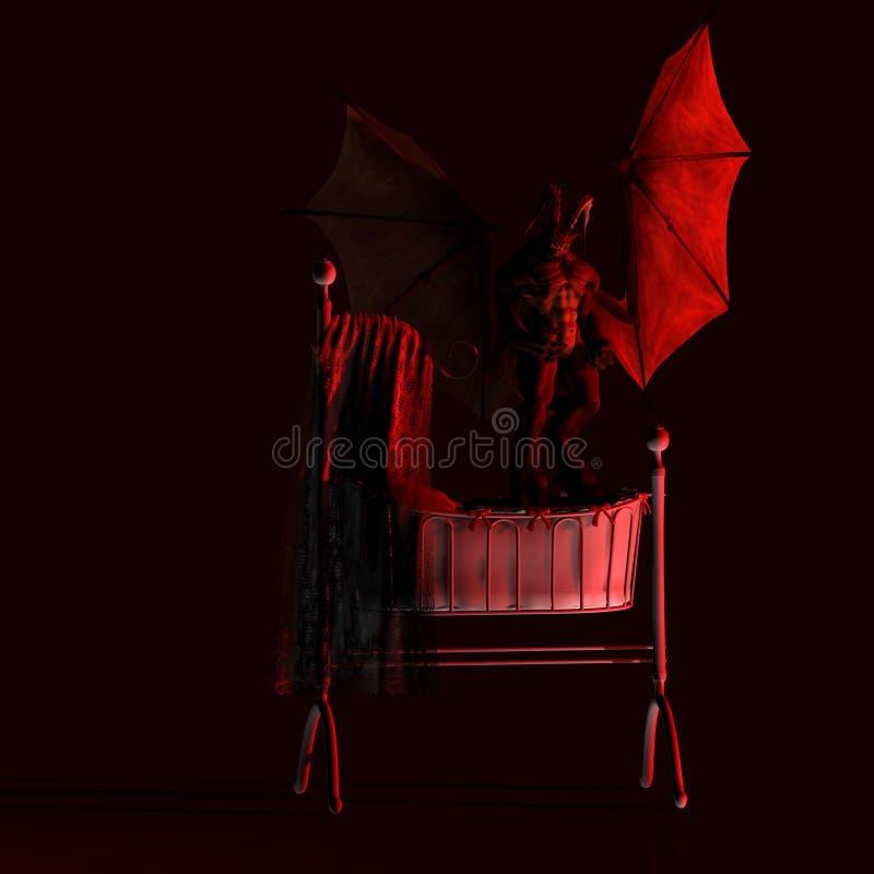 De nachtmerrie droomt #02 stock illustratie