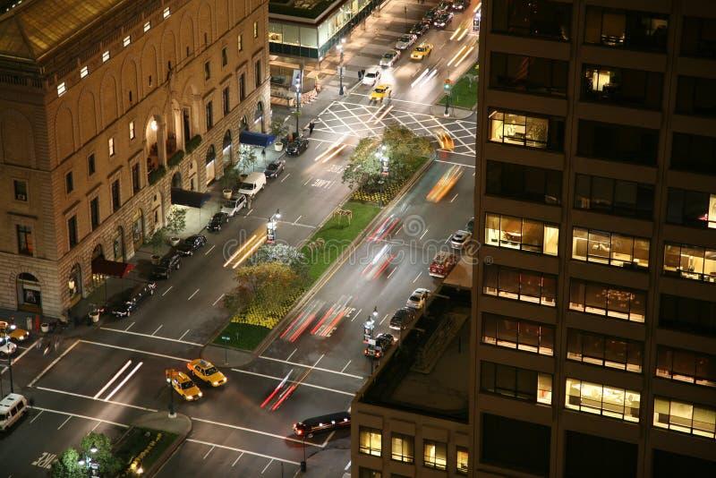 De nachtscène van de Stad van New York royalty-vrije stock fotografie