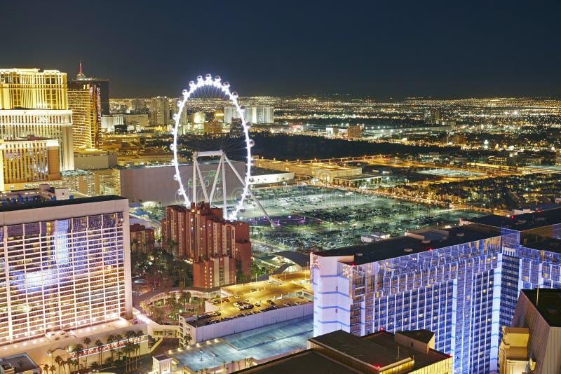 De nachtscène van Las Vegas stock afbeelding