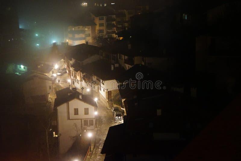 De nachtscène van Velikotarnovo stock foto's