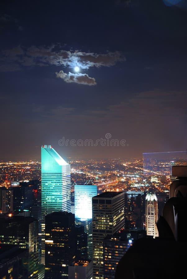 De nachtscènes van de Stad van New York stock foto