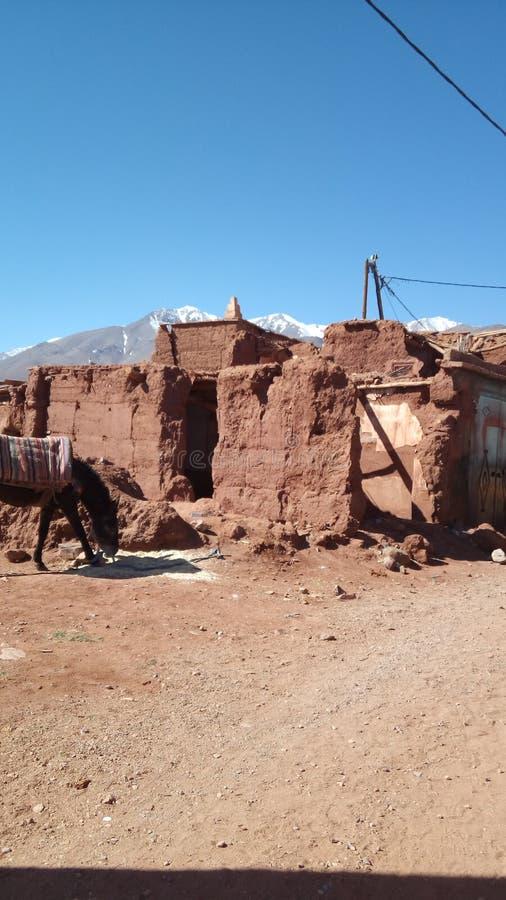 De nalatingen van de bergen Marokko van de beschavingsatlas royalty-vrije stock foto's